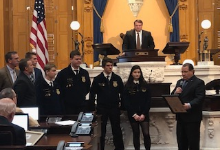 FFA Forestry Team Recognized by Senator Tim Schaffer