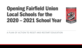 Updated 9/22/2020 - Fairfield Union Plans to Reopen and Restart Education