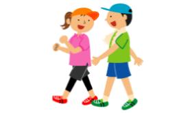 Boy and Girl, walking
