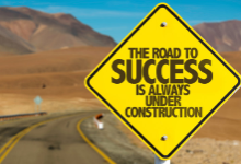 Road with success sign
