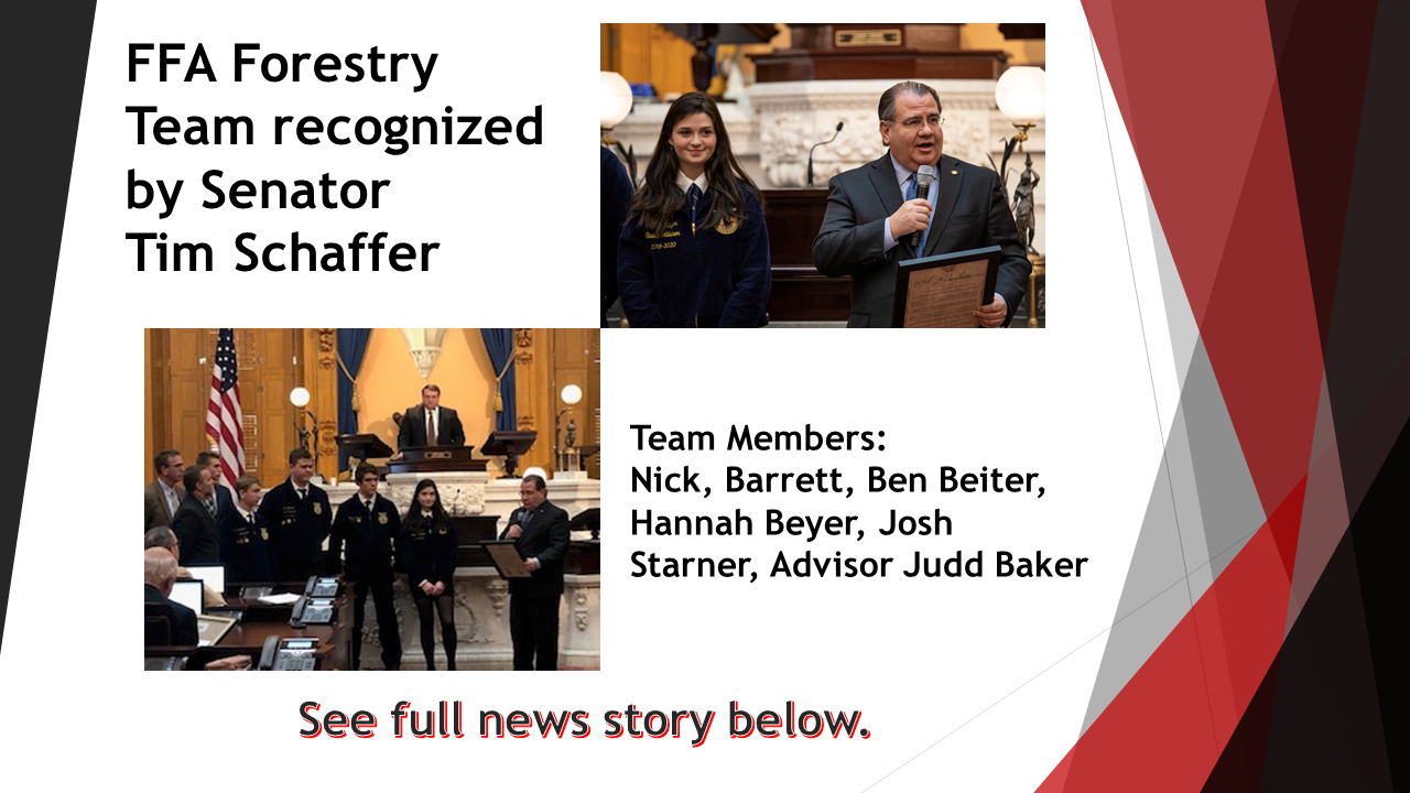 FFA Forestry Team Recognized on Senate Floor