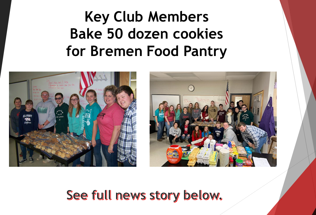 Key Club Members Donate Cookies to Food Pantry