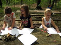 Students at a farm