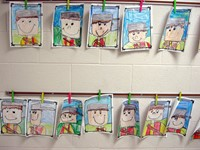 Johnny Appleseed drawings