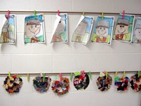 Johnny Appleseed drawings and crafts