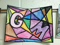 Student stained glass project