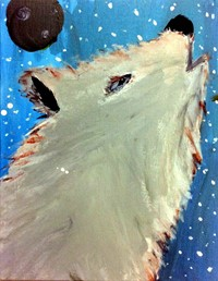Quarter 1 Art 1 - Painting of a howling wolf