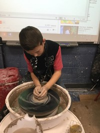 5th Grade Introduction to the Pottery Wheel