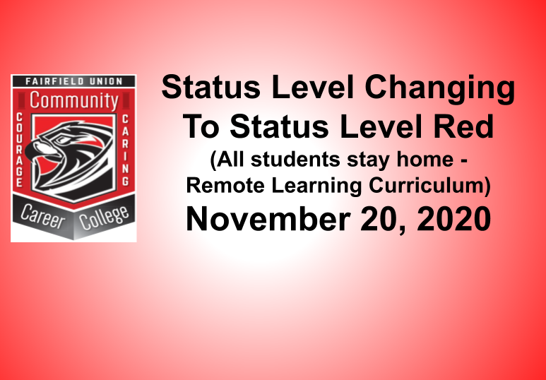 Status Level Changing to Red 11/20/2020