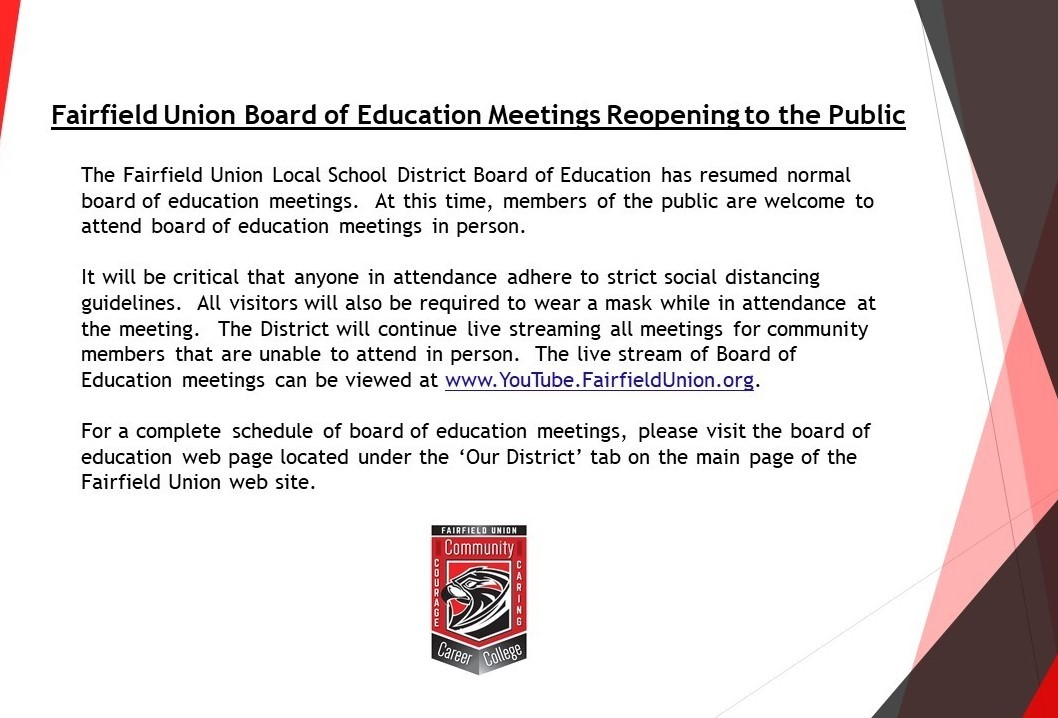 Board of Education Meeting Notice