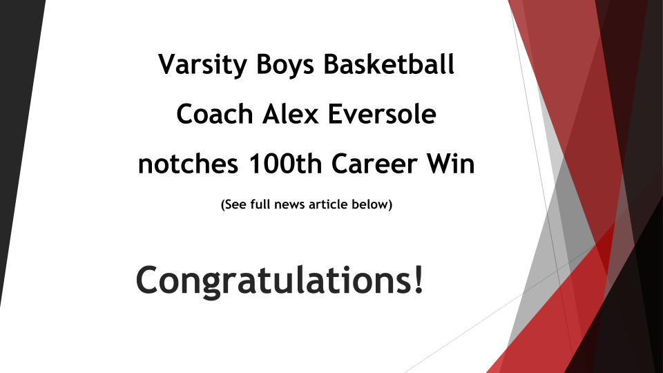 Coach Eversole Notches 100th Win
