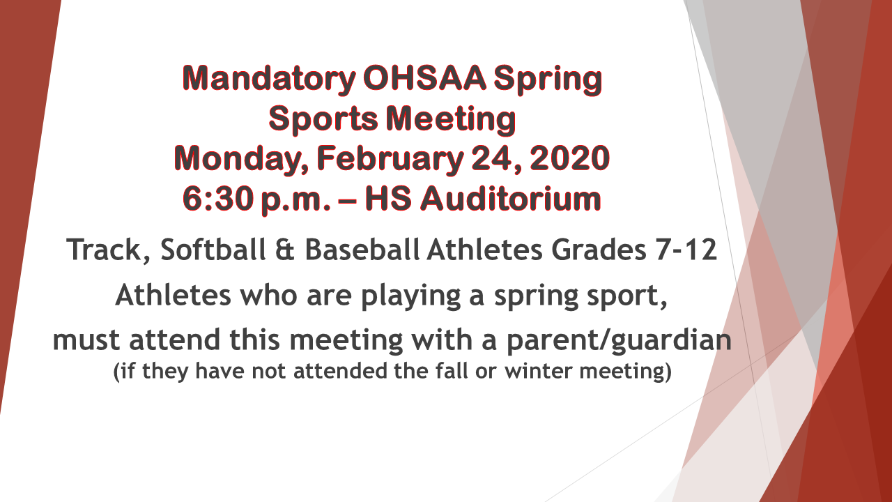 OHSAA Spring Meeting