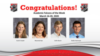 Academic Falcons Week of March 16, 2020