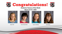 Academic Falcons Week of March 23, 2020