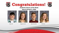 Academic Falcons Week of March 30, 2020