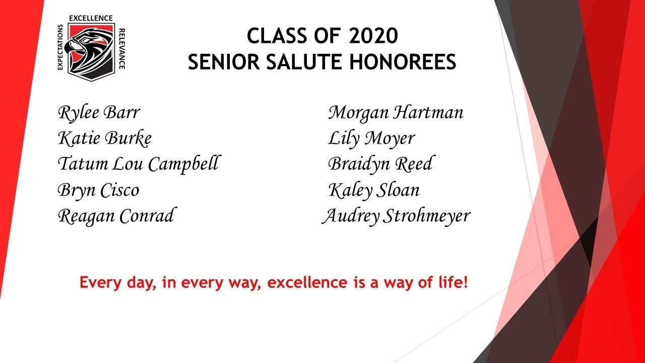 Senior Salute Winners