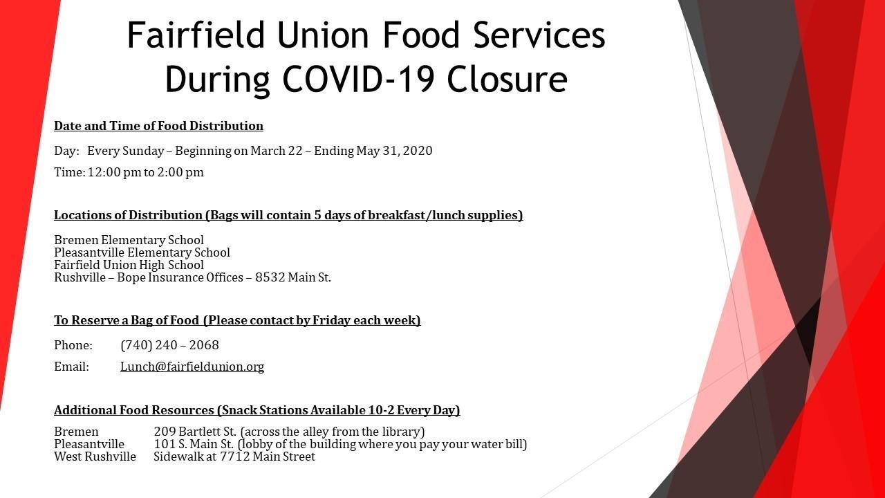 Fairfield Union Food Services