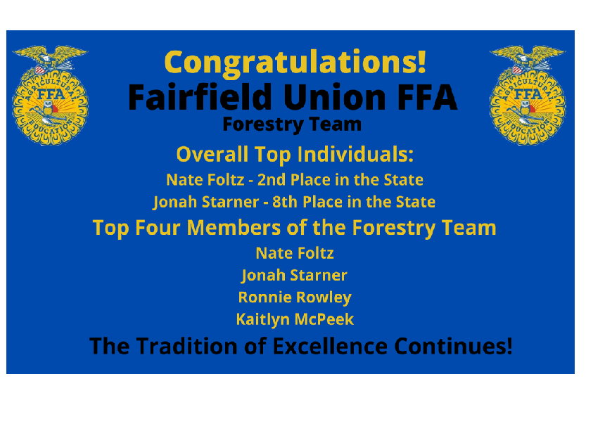 FFA Forestry Placements