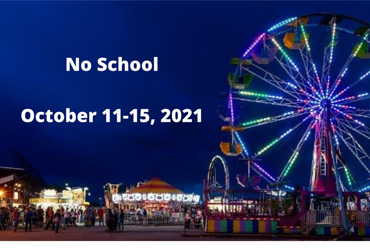 No School October 11-15, 2021