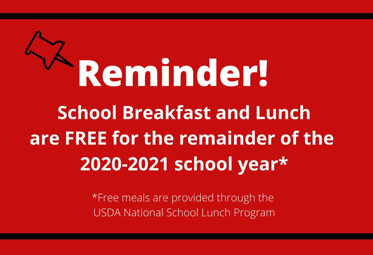 Free Meal Reminder Slide