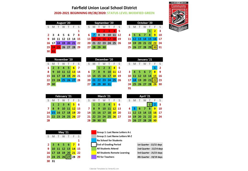 Modified Green Calendar