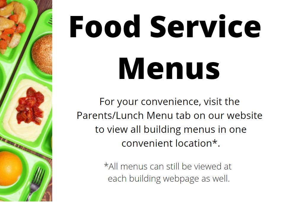Food Service Menu Announcement