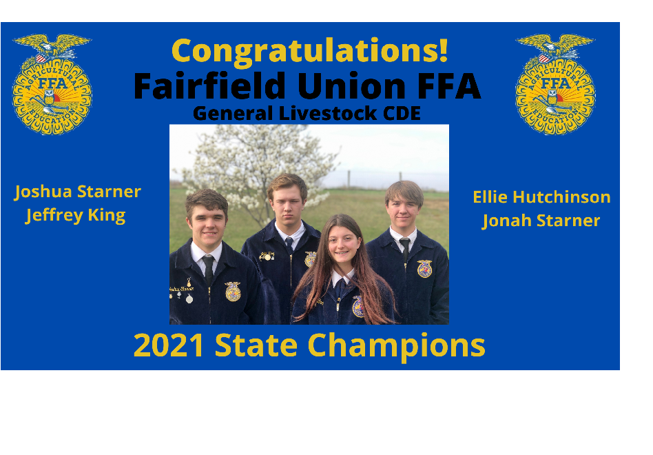 General Livestock CDE wins 2021 State Competition