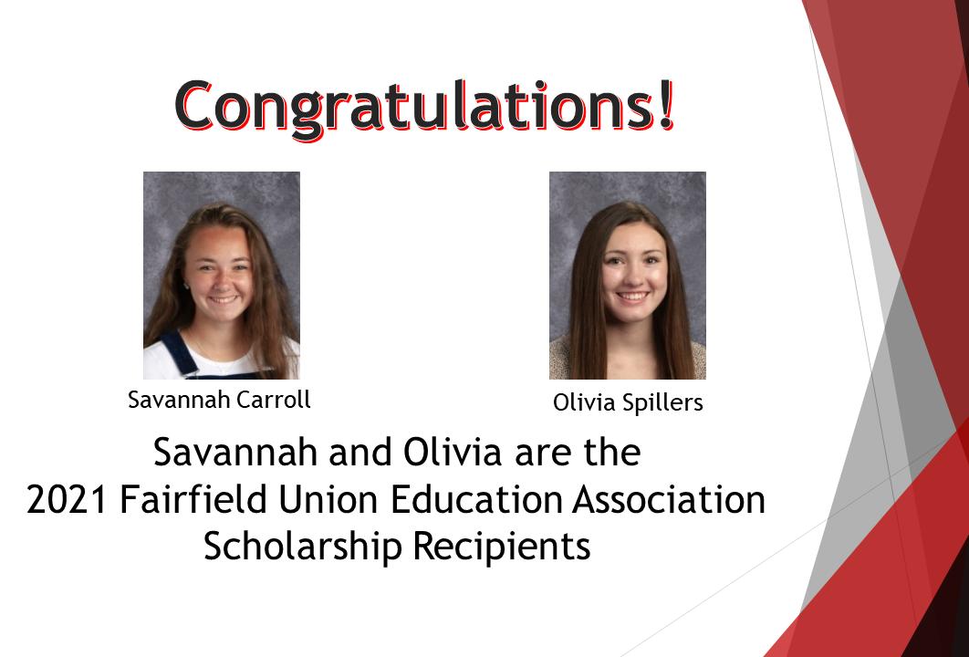 FUEA Scholarship Recipients