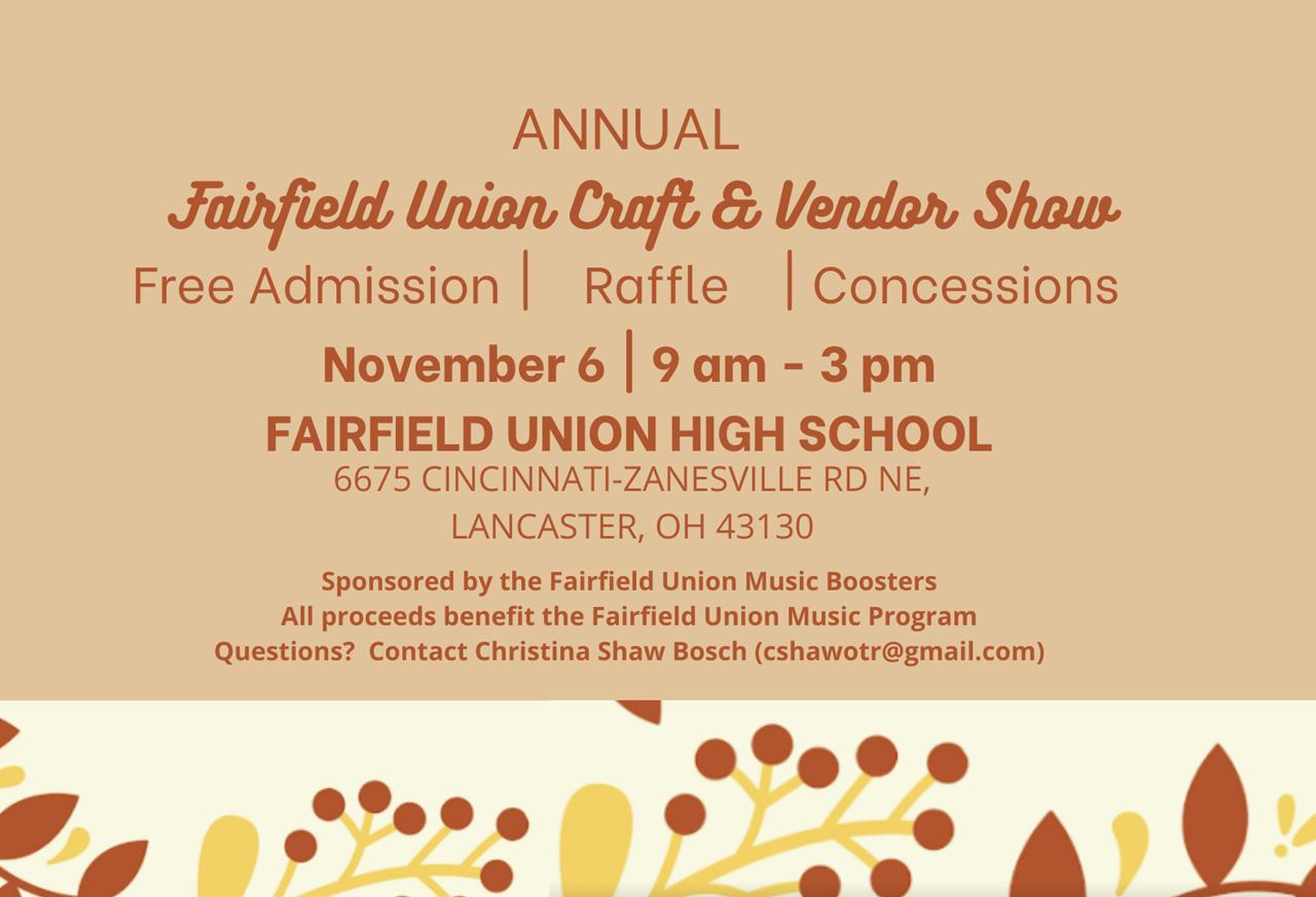Craft and Vendor Show Nov. 6
