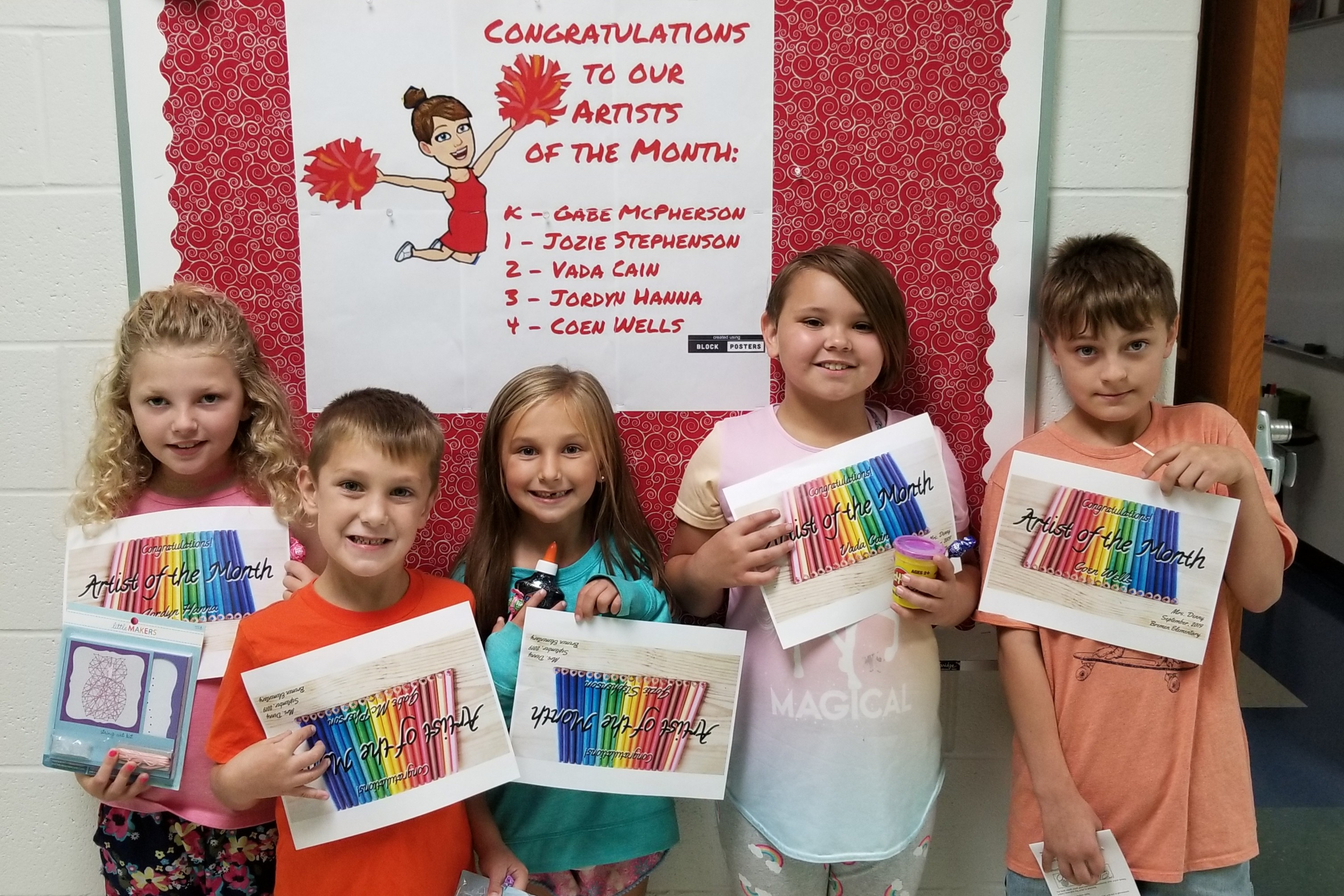 picture of artists of the month for September