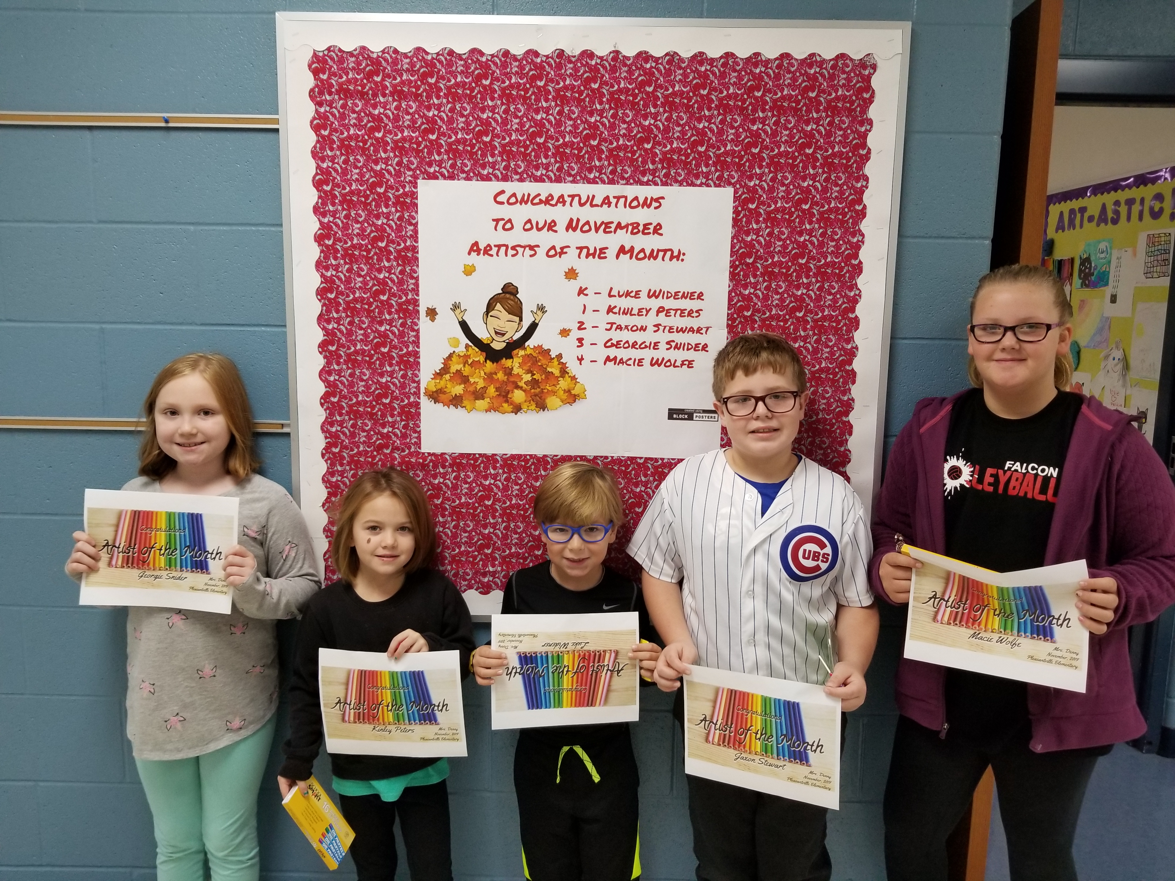 picture of artists of the month for November