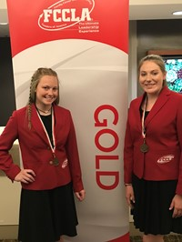 FCCLA Members receive gold rating.