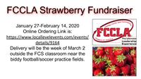 FCCLA Strawberry Fundraiser Info