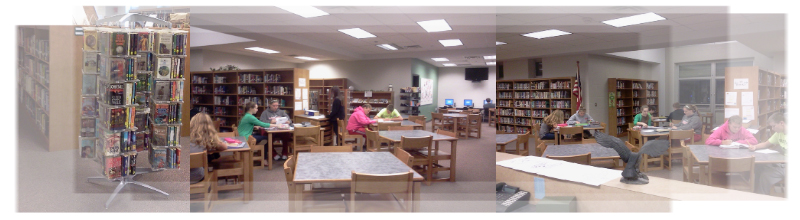 Multiple library photos put together